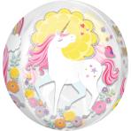 """Magical Unicorn Orbz Foil Balloons 15""""/38cm x 16""""/40cm G20 - 5 PC"""