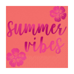 Summer Vibes Beverage Napkins 25cm - 12 PKG/16