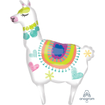 "Llama SuperShape XL Foil Balloons 28""/71cm w x 41""/104cm h P35 - 5 PC"