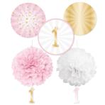 1st Birthday Pink Decoration Kits - 6 PKG/5