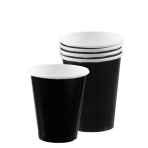 Jet Black Paper Cups 266ml - 6 PKG/20