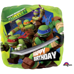 Teenage Mutant Ninja Turtles Birthday Standard Foil Balloons S60 - 5 PC