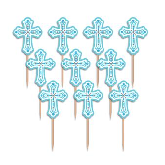 Religious Blue Party Picks - 15 PKG/36