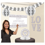 Silver Elegant Scroll Personalised Decoration Kits - 6 PKG/10