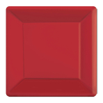 Apple Red Square Paper Plates 25cm - 6 PKG/20