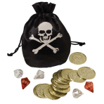 Pirate Coin & Pouch Set 20cm x 14cm - 9 PC