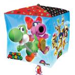 "Super Mario Bros Cubez Foil Balloons 15""/38cm x 15""/38cm G40 - 5PC"