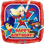 DC Super Hero Girls Happy Birthday Standard Foil Balloons S60 - 5 PC
