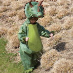 Boys will be Boys Triceratops Costume - Age 6-8 Years - 1 PC