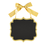 Large Gold Glitter Marquee Chalkboard MDF Signs 25cm x 23cm x 0.7cm - 6 PC