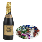 Multi Coloured Foil Confetti Champagne Bottles - 6 PC