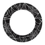 Spider Web Paper Plates 25cm - 12 PKG/40