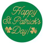 St Patrick's Hot Stamped Coasters 9.5cm - 9 PKG/18