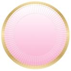 1st Birthday Pink Metallic Paper Plates 23cm - 6 PKG/8