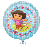 Dora the Explorer Happy Birthday Foil Balloon - Standard - S60 5 PC