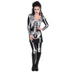 Adults Bare Bones Skeletons Costume - Size 10-12 - 1 PC