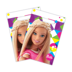 Barbie Sparkle Plastic Party/Loot Bags - 6 PKG/8