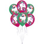 "Unicorn 4 Colour Latex Balloons 11""/27cm - 10 PKG/6"