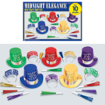 Midnight Elegance New Year's Party Kits - 4 PKG/20