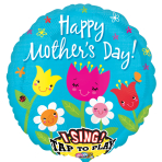 """Best Mother`s Day Jumbo Sing-A-Tune Balloons XL 28""""/71cm P60 - 5 PC"""