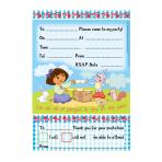 Dora The Explorer Invitations and Envelopes - 6 PKG/20