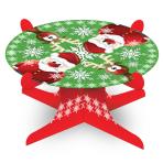 Christmas Santa & Rudolph Cake Stands - 6 PC