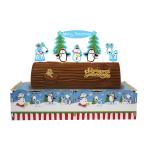 Joyful Snowman Christmas Cake Log Stands 8.5cm h x 34cm w - 6 PC