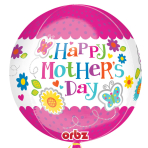Mother's Day Orbz Flora and Butterflies Foil Balloons G20 - 5 PC