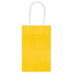Yellow Paper Gift Bags 13cm x 21cm - 6 PKG/10