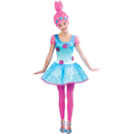 Trolls Girls Poppy Costume - Age 10-12 Years - 1 PC