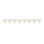 Sparkling Golden Anniversary Prismatic Pennant Bunting 4m - 6 PC