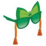 St. Patrick's Day Fun Shades with Braids 15cm x 9cm - 4 PC