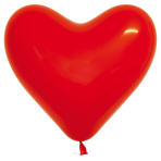 "Crystal Heart Solid Red 315 Latex Balloons 16""/40cm - 50 PC"