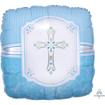 Blessings Blue Foil Standard Balloons S40 - 5 PC
