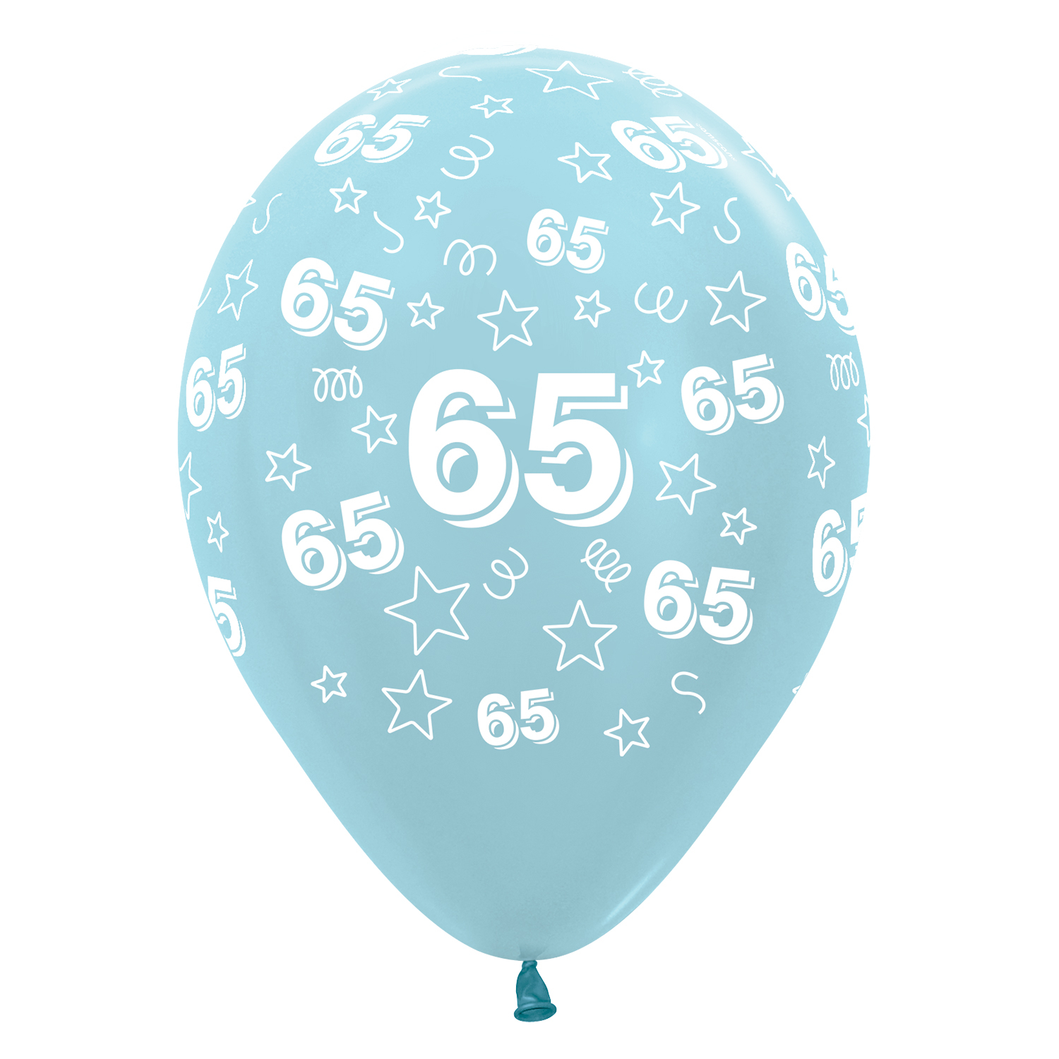 65th Birthday Stars Blue 440 540 Mix Latex Balloons 12 30cm