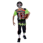 Zombie American Footballer Costume - Age 11-12 Years - 1 PC