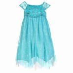 Elsa Turquoise Swirl Dress - Age 9-10 Years - 1 PC