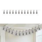 Silver Tassel Decorations 6m 12 Tassels - 12 PC