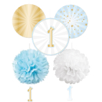 1st Birthday Blue Decoration Kits - 6 PKG/5