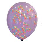 """Confetti Multi Coloured Latex Balloons 11""""/27.5cm - 6 PKG/6"""
