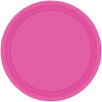 Bright Pink Paper Plates 23cm - 6 PKG/20