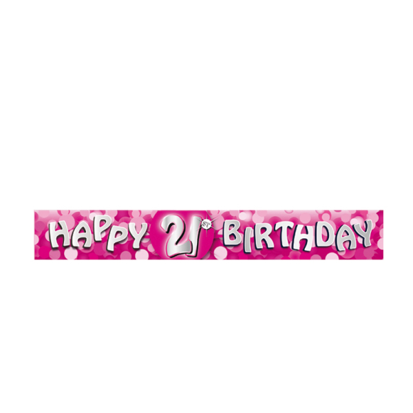 Happy 21st Birthday Foil Banners 2.7m - 12 PKG : Amscan ...