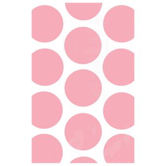 Light Pink Candy Buffet Polka Dots Treat Bags - 24 PKG/10