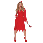 Adults Red Hot Devil Costume - Size Standard/M - 1 PC