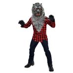 Teens Hungry Howler Werewolf Costume - Age 12-14 Years - 1 PC