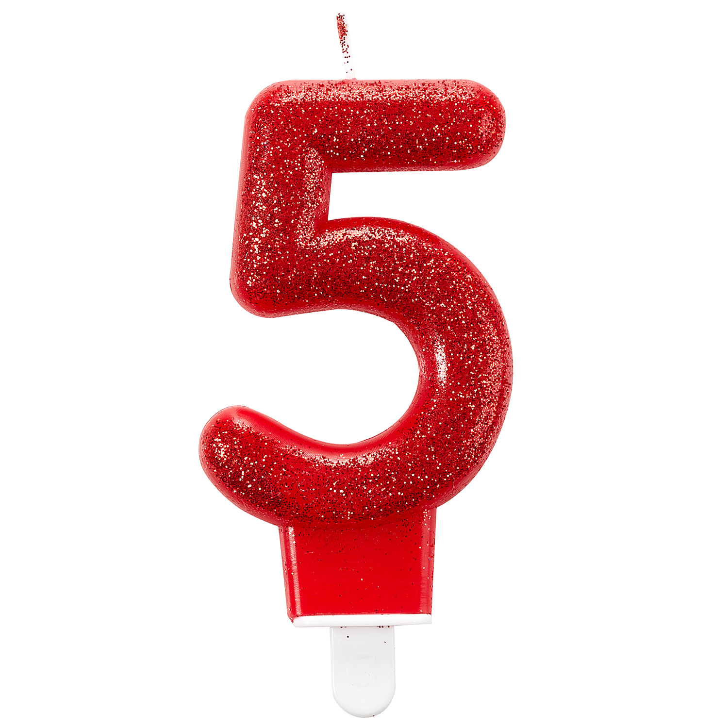 Glitter Birthday Candles Number 1 Pink 7.6cm