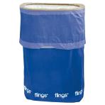 Bright Royal Blue Fling Bins - 5 PKG