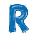 """Letter R Blue SuperShape Foil Balloons 34""""/""""86cm P50 - 5 PC"""