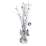 Silver Spray Centrepiece Balloon Weights 30cm/150g - 6 PC