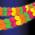 Neon Paper Garlands 3.65m - 12 PC